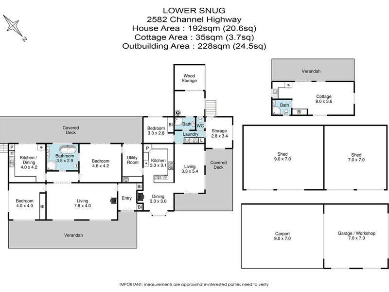 2582 Channel Highway, Lower Snug, Tas 7054 - floorplan