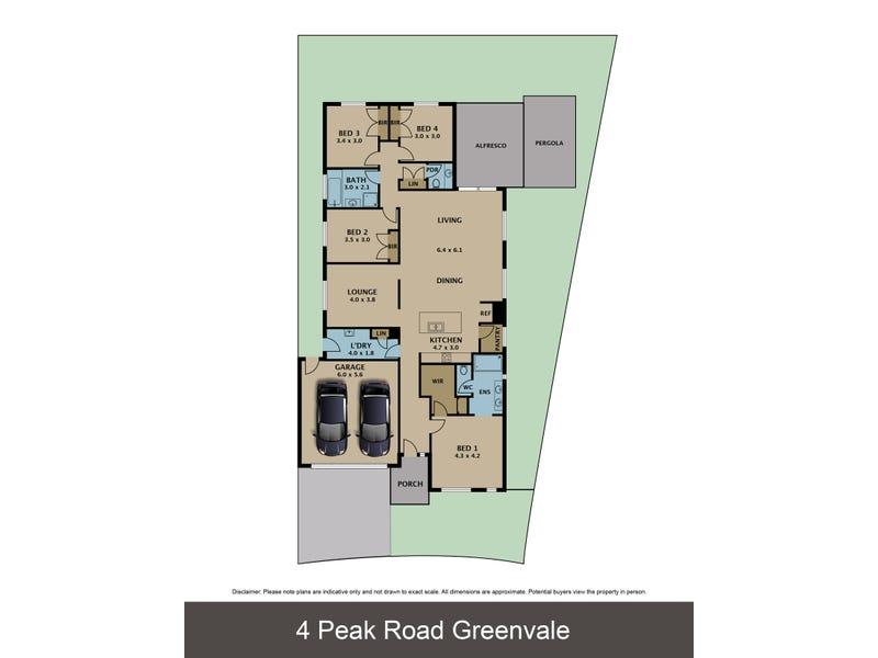 4 Peak Road, Greenvale, Vic 3059 - floorplan