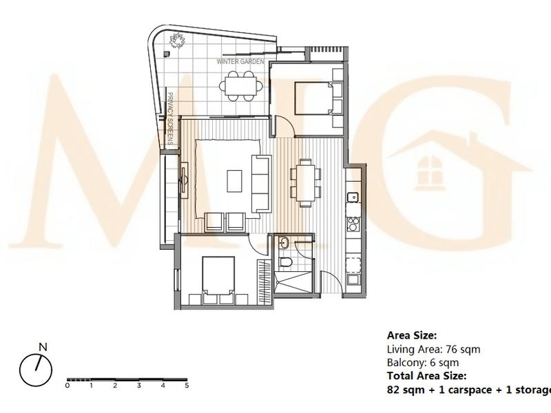 A205/58 Hercules St, Chatswood, NSW 2067 - floorplan