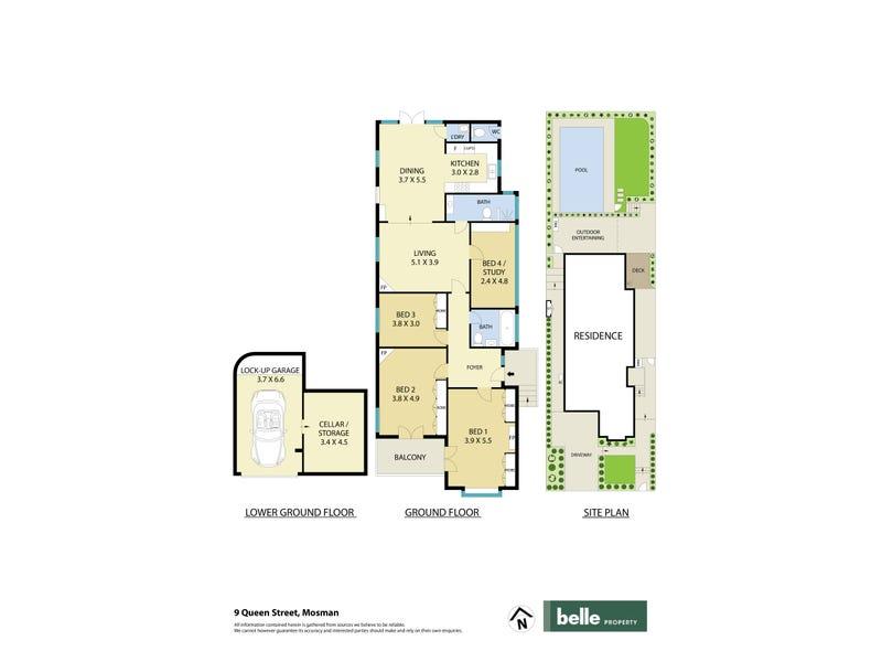 9 Queen Street, Mosman, NSW 2088 - floorplan