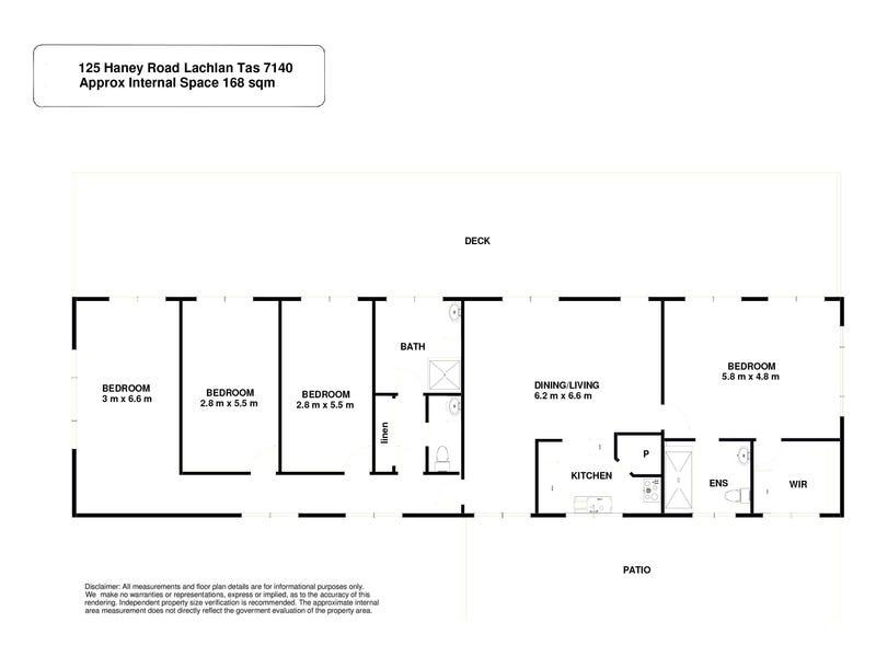 125 Haney Road, Lachlan, Tas 7140 - floorplan