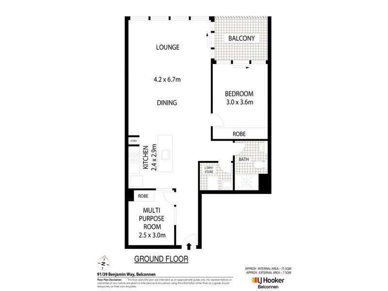 91/39 Benjamin Way, Belconnen, ACT 2617 - floorplan