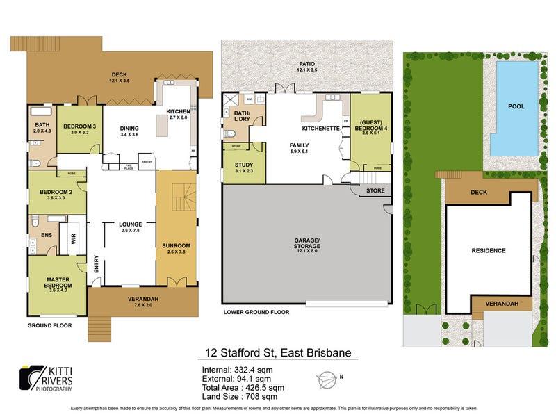 12 Stafford Street, East Brisbane, Qld 4169 - floorplan