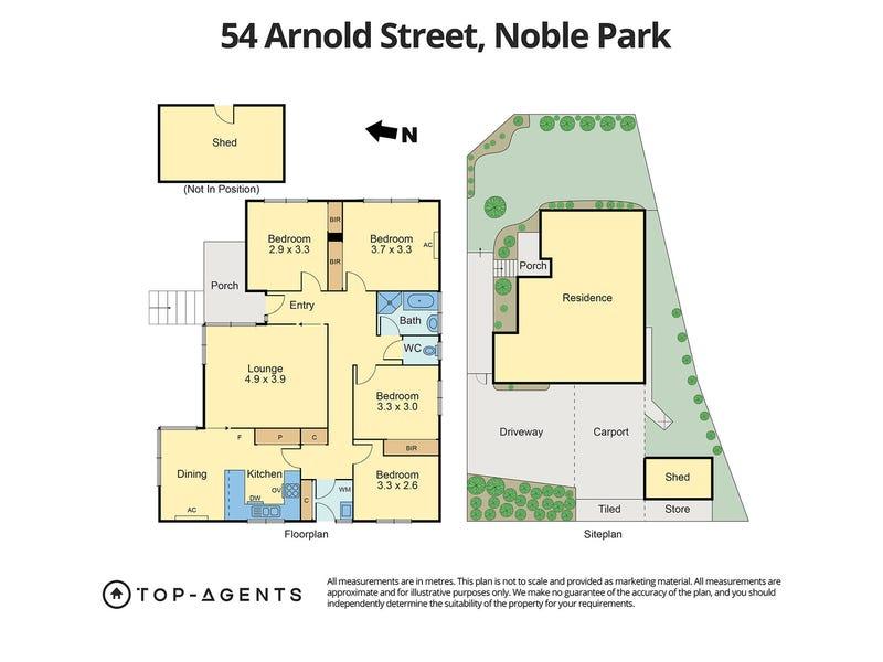 54 Arnold Street, Noble Park, Vic 3174 - floorplan
