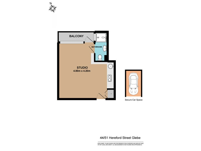 44/51 HEREFORD STREET, Glebe, NSW 2037 - floorplan
