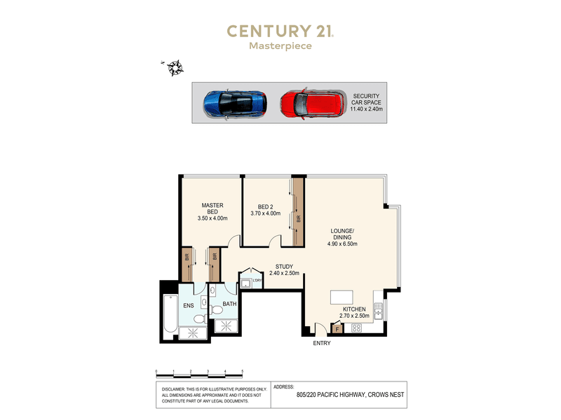 805/220 Pacific Hwy, Crows Nest, NSW 2065 - floorplan