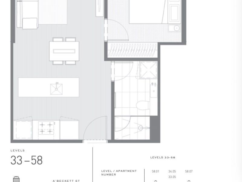 5207/135 A'Beckett st, Melbourne, Vic 3000 - floorplan