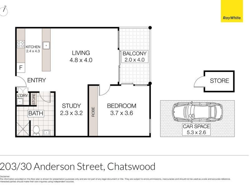 203/30 Anderson Street, Chatswood, NSW 2067 - floorplan