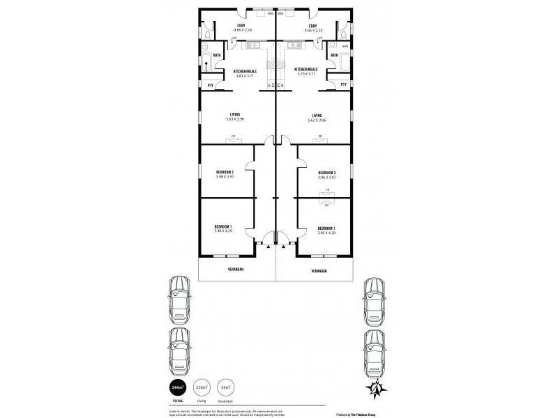 266 and 268 Cross Road, Kings Park, SA 5034 - floorplan