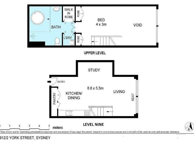 912/2 York Street, Sydney, NSW 2000 - floorplan