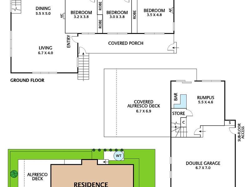 1 Hillside Court, Lilydale, Vic 3140 - floorplan