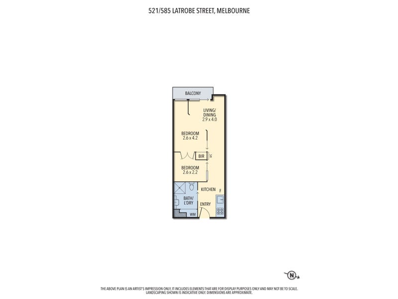 521/585 Latrobe Street, Melbourne, Vic 3000 - floorplan