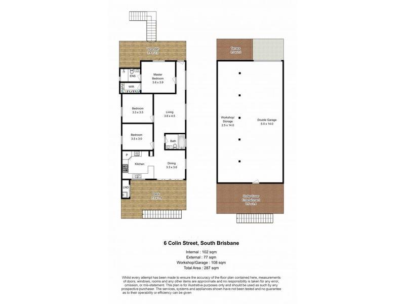 6 Colin Street, South Brisbane, Qld 4101 - floorplan