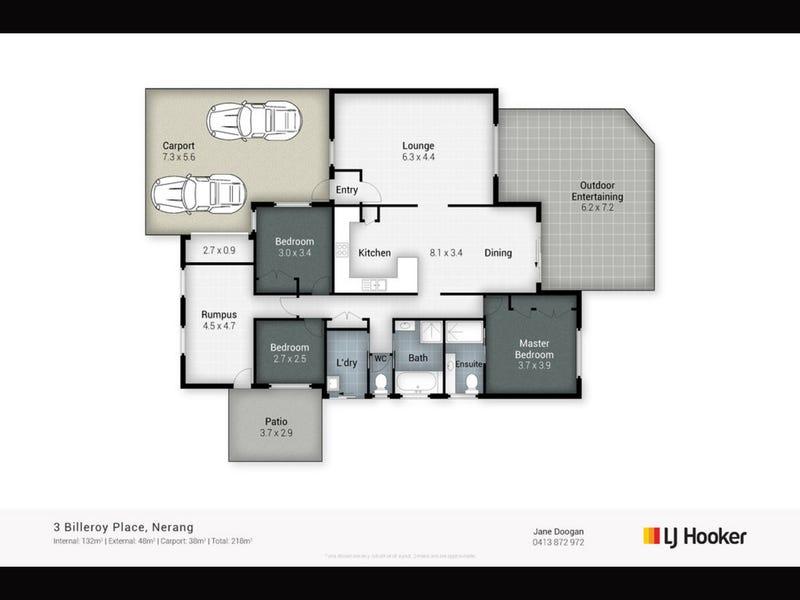 3 Billeroy Place, Nerang, Qld 4211 - floorplan