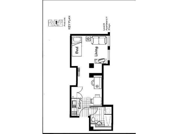 708/238 Flinders Street, Melbourne, Vic 3000 - floorplan
