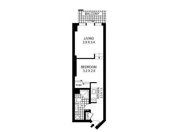 62/361 Kent Street, Sydney, NSW 2000 - floorplan