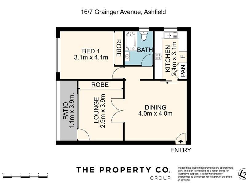 16/7 Grainger Avenue, Ashfield, NSW 2131 - floorplan