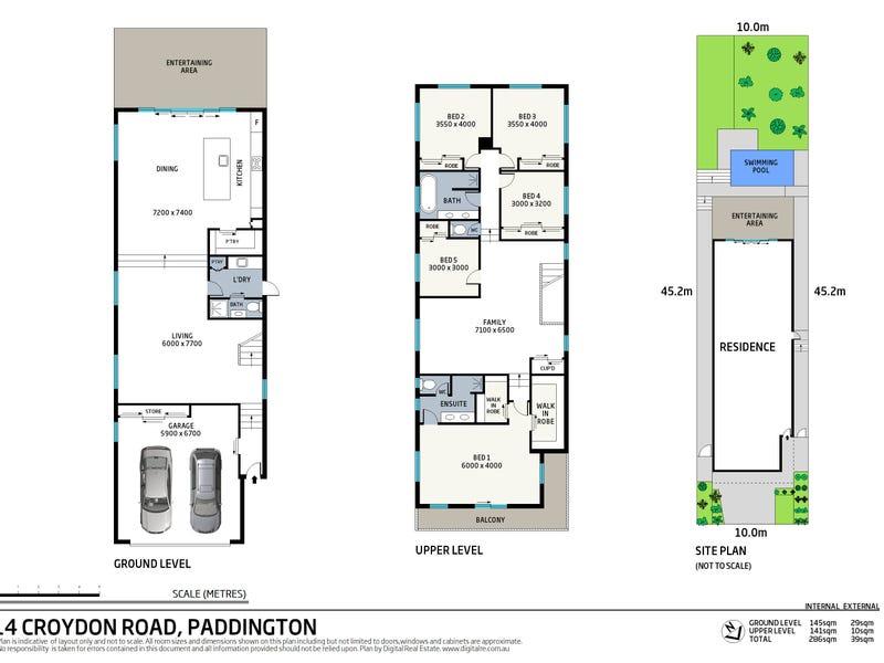 14 Croydon Road, Paddington, Qld 4064 - floorplan