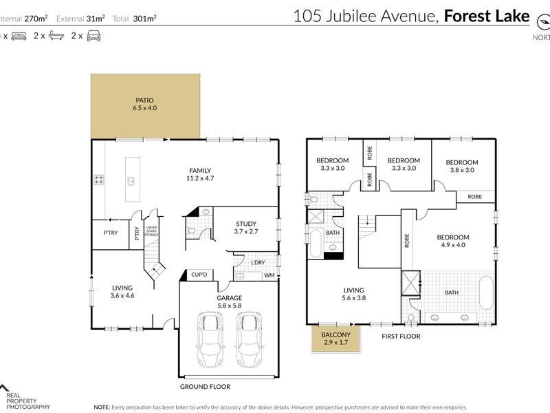 105 Jubilee Avenue, Forest Lake, Qld 4078 - floorplan
