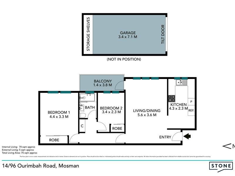 14/96 Ourimbah Road, Mosman, NSW 2088 - floorplan
