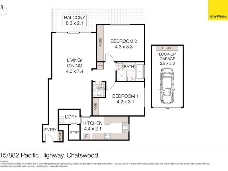 15/882 Pacific Highway, Chatswood, NSW 2067 - floorplan