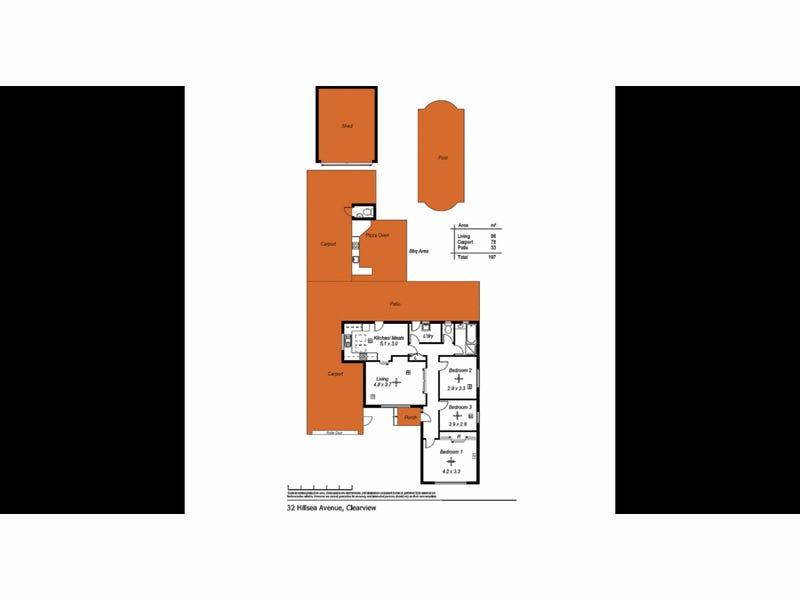 32 Hillsea Avenue, Clearview, SA 5085 - floorplan