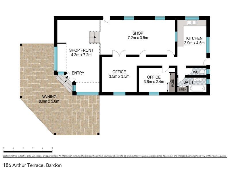186  Arthur Terrace, Red Hill, Qld 4059 - floorplan