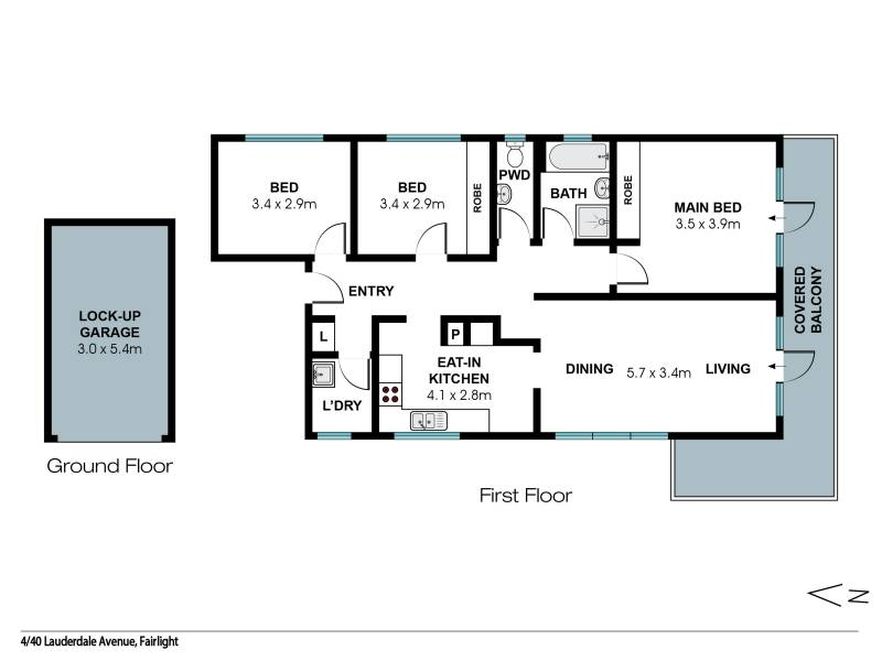 4/40 Lauderdale Avenue, Fairlight, NSW 2094 - floorplan