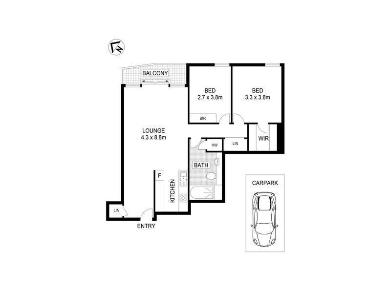 725/181 Exhibition Street, Melbourne, Vic 3000 - floorplan