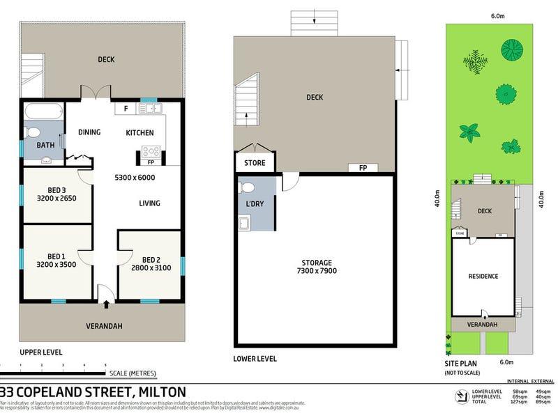 33 Copeland Street, Milton, Qld 4064 - floorplan
