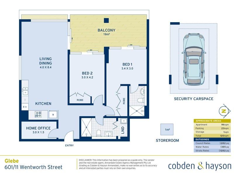601/11 Wentworth Street, Glebe, NSW 2037 - floorplan