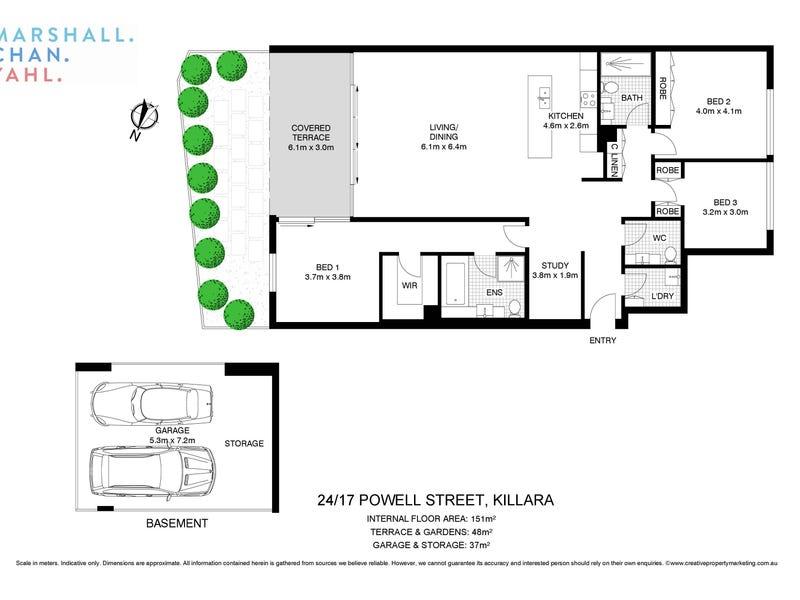 24/17 Powell Street, Killara, NSW 2071 - floorplan