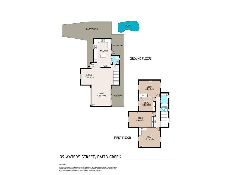 35 Waters Street, Rapid Creek, NT 0810 - floorplan
