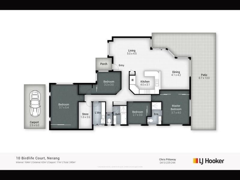 10 Birdlife Court, Nerang, Qld 4211 - floorplan
