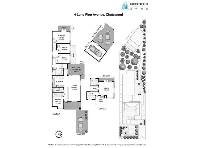 4 Lone Pine Avenue, Chatswood, NSW 2067 - floorplan