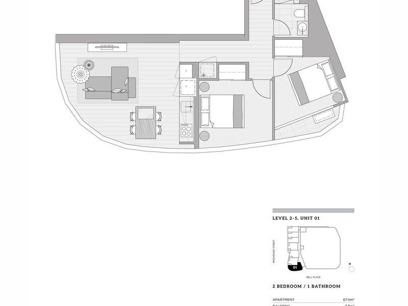 201/23 Mackenzie Street, Melbourne, Vic 3000 - floorplan