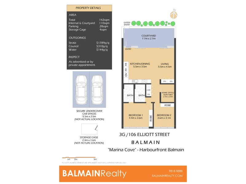 3G/106 Elliott Street, Balmain, NSW 2041 - floorplan