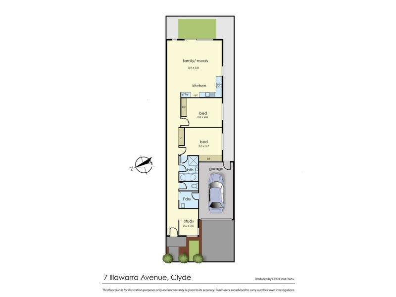 7 Illawarra Avenue, Clyde, Vic 3978 - floorplan