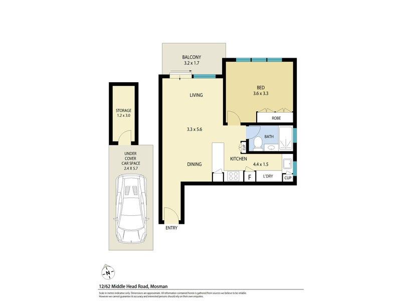 12/62 Middle Head Road, Mosman, NSW 2088 - floorplan