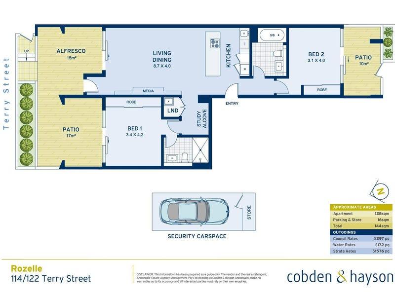 114/122 Terry Street, Rozelle, NSW 2039 - floorplan