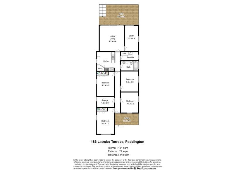 186 Latrobe Terrace, Paddington, Qld 4064 - floorplan
