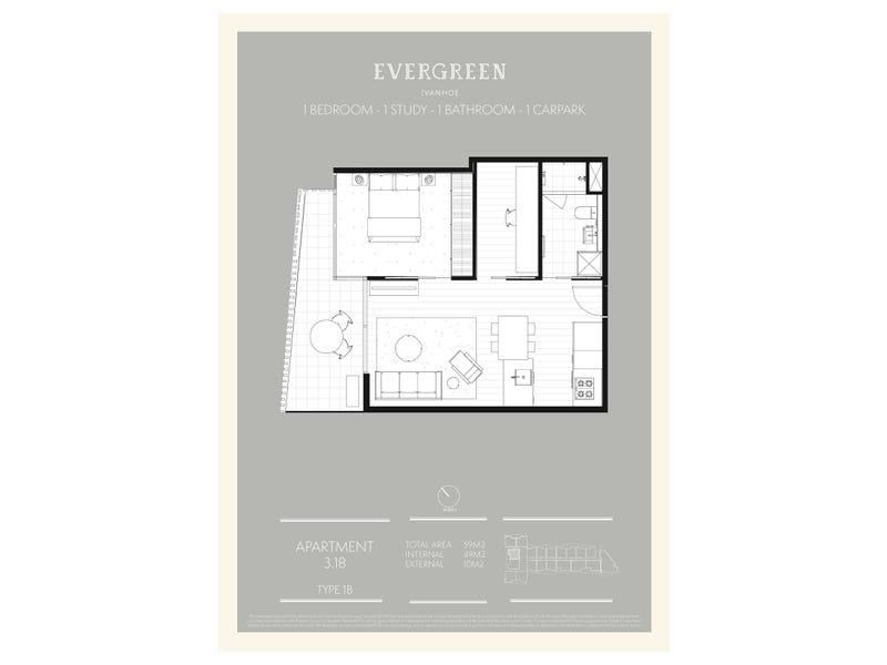 318/1-5  Westley Avenue, Ivanhoe, Vic 3079 - floorplan