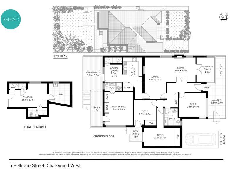 5 Bellevue Street, Chatswood, NSW 2067 - floorplan