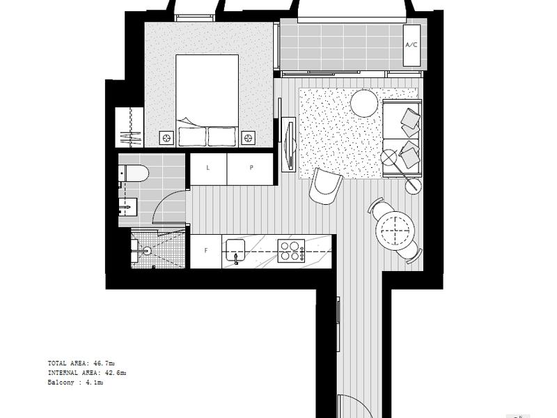 2201 /81  A'beckett St, Melbourne, Vic 3000 - floorplan