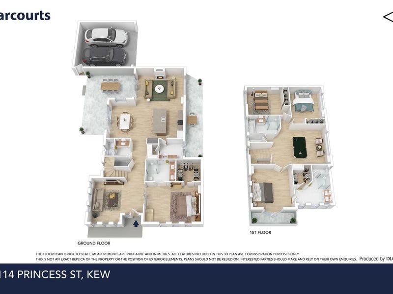 1/114 Princess street, Kew, Vic 3101 - floorplan