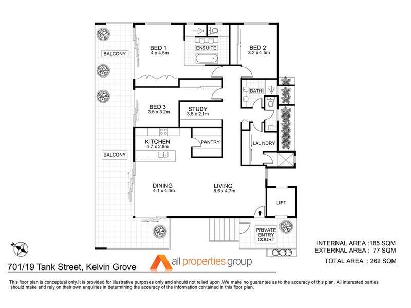 701/19 Tank Street, Kelvin Grove, Qld 4059 - floorplan