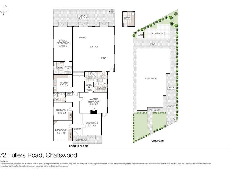 72 Fullers Road, Chatswood, NSW 2067 - floorplan