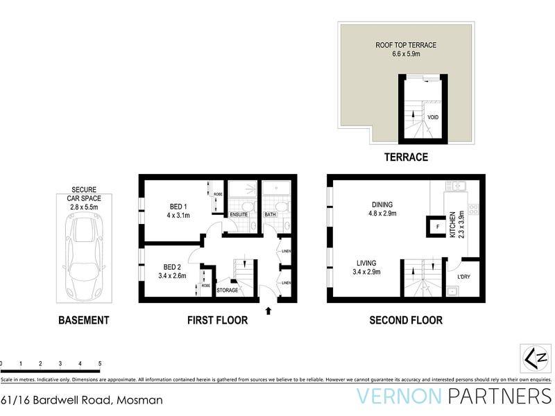 61/16 Bardwell Road, Mosman, NSW 2088 - floorplan