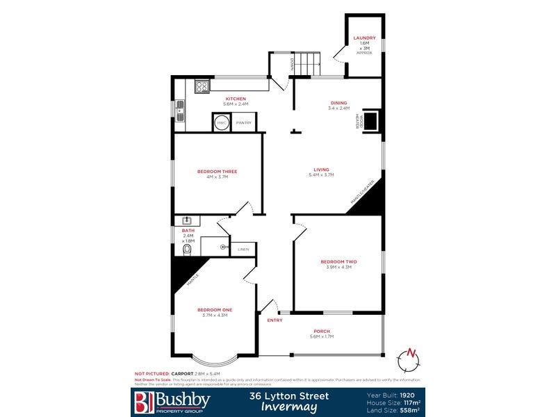 36 Lytton Street, Invermay, Tas 7248 - floorplan