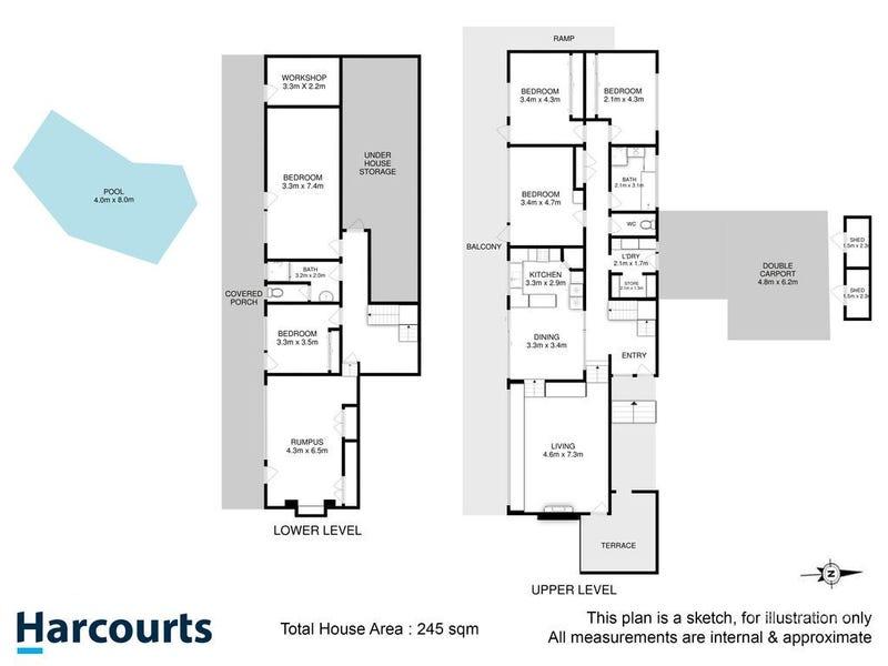 13 Casuarina Crescent, Berriedale, Tas 7011 - floorplan
